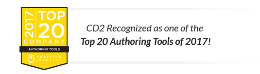 Training Industry Award - Top 20 Authoring Tools of 2017
