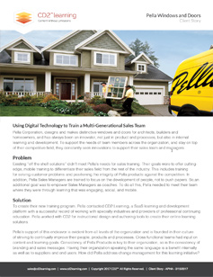 CD2 Learning Client Success Story - Pella Windows and Doors Document Thumbnail