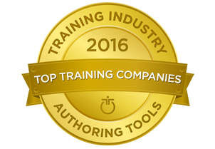 Training Industry Award - Top 20 Authoring Tools of 2016!