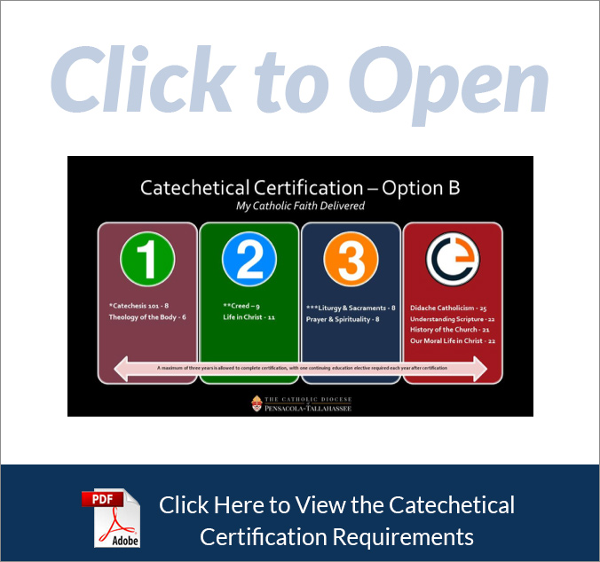 Catechetical Certification - Option B