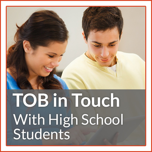 TOB in Touch with High School Students, helps teens to see the authentic way to live lives for true love.