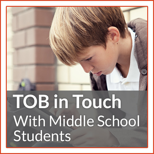 Funny, interactive, and challenging, TOB in Touch with Middle School Students